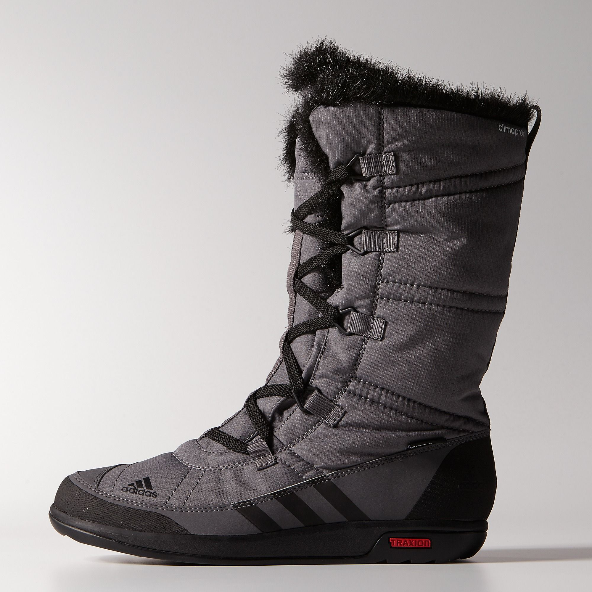 A high-cut winter boot with full lace-up, the women's adidas Choleah