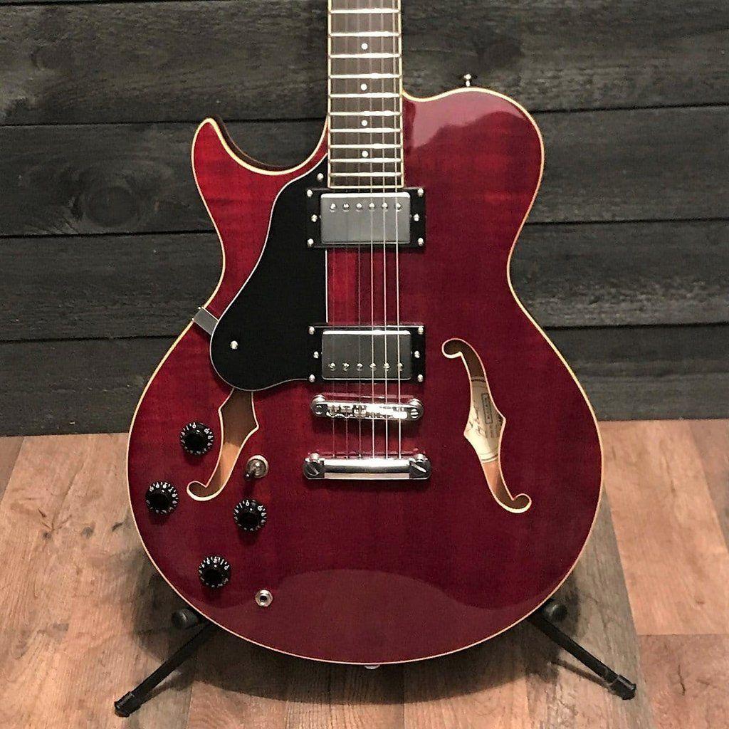 Samick Rl 2 Left Handed Royale Cherry Semi Hollowbody Electric Guitar In 2020 Electric Guitar Guitar Guitars For Sale