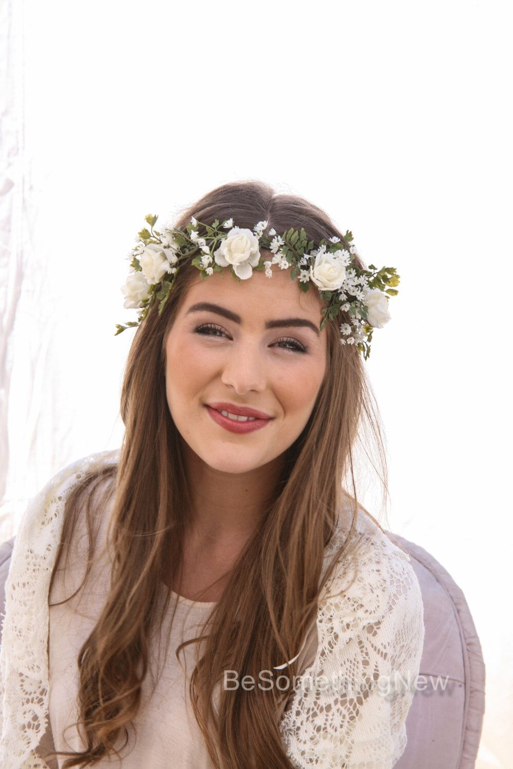 Boho bridal flower crown with veil pelican by pelicanrosebride boho bridal flower crown with veil pelican by pelicanrosebride wedding things pinterest bridal flowers flower crowns and veil dhlflorist Images