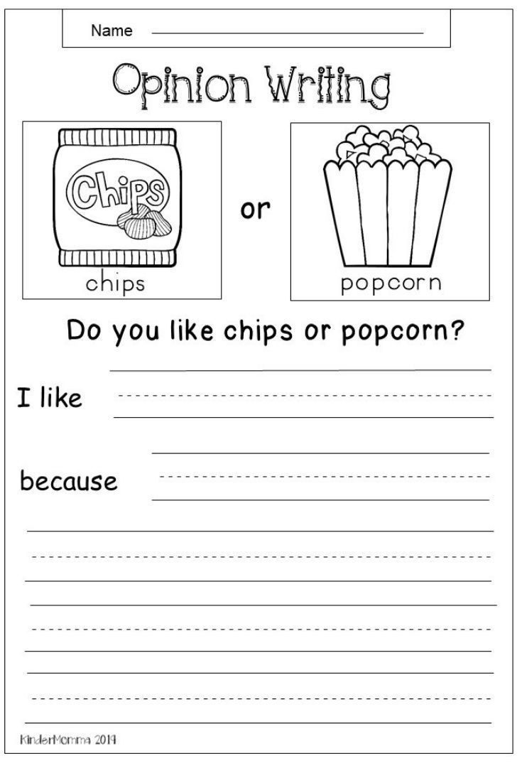 2 Inference Printable Kindergarten Worksheets Free Opinion Worksheet Elementary Writing Persuasive Writing Second Grade Writing