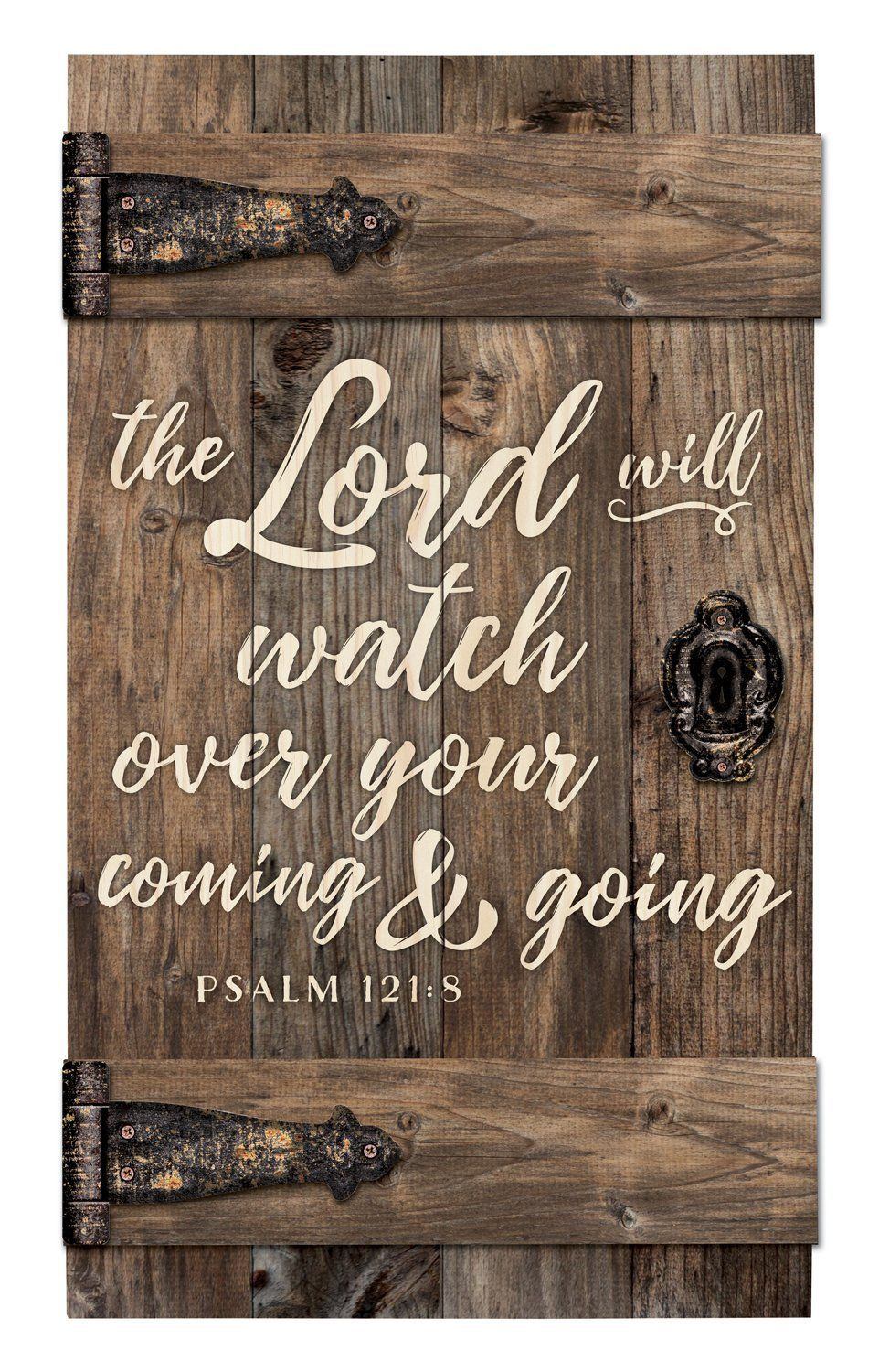 The Lord Will Watch Over Brown Distressed 14 X 24 Inch Solid Pine Wood Barn Door Wall Plaque Sign Click On Image For Additional Details Affiliate