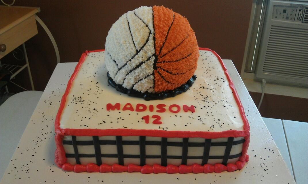 Awe Inspiring Basketball And Volleyball Cake S Facebook Com Pages Personalised Birthday Cards Beptaeletsinfo