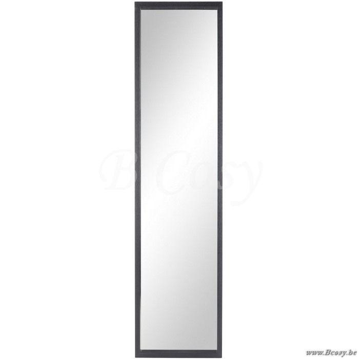 J-Line Rechthoekige spiegel in zwart hout 170H - Kaders Spiegels Wand - BCosy Webshop Boutique Web Vente en Ligne