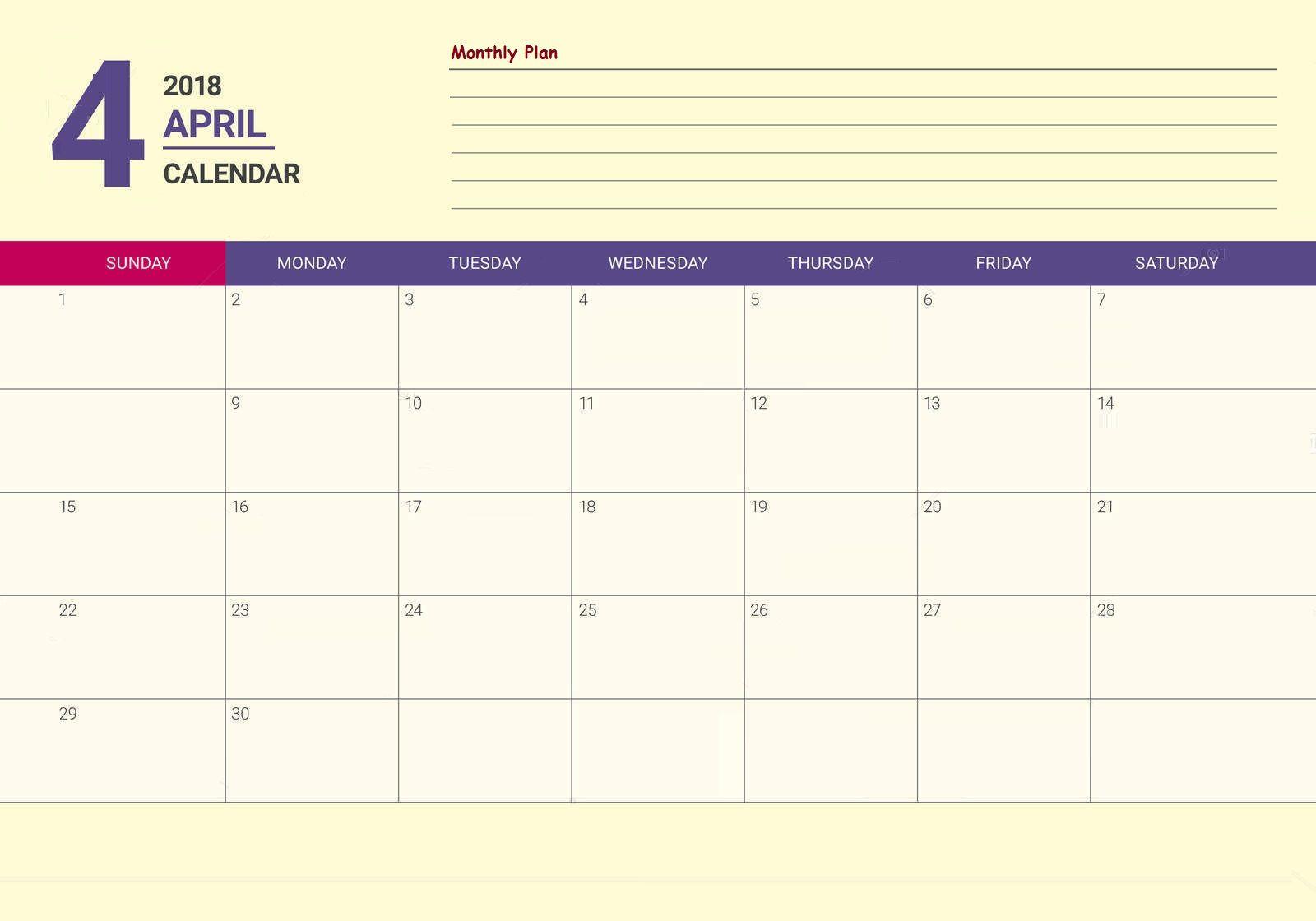 April 2018 Desk Calendar Template Maxcalendars Pinterest Desk