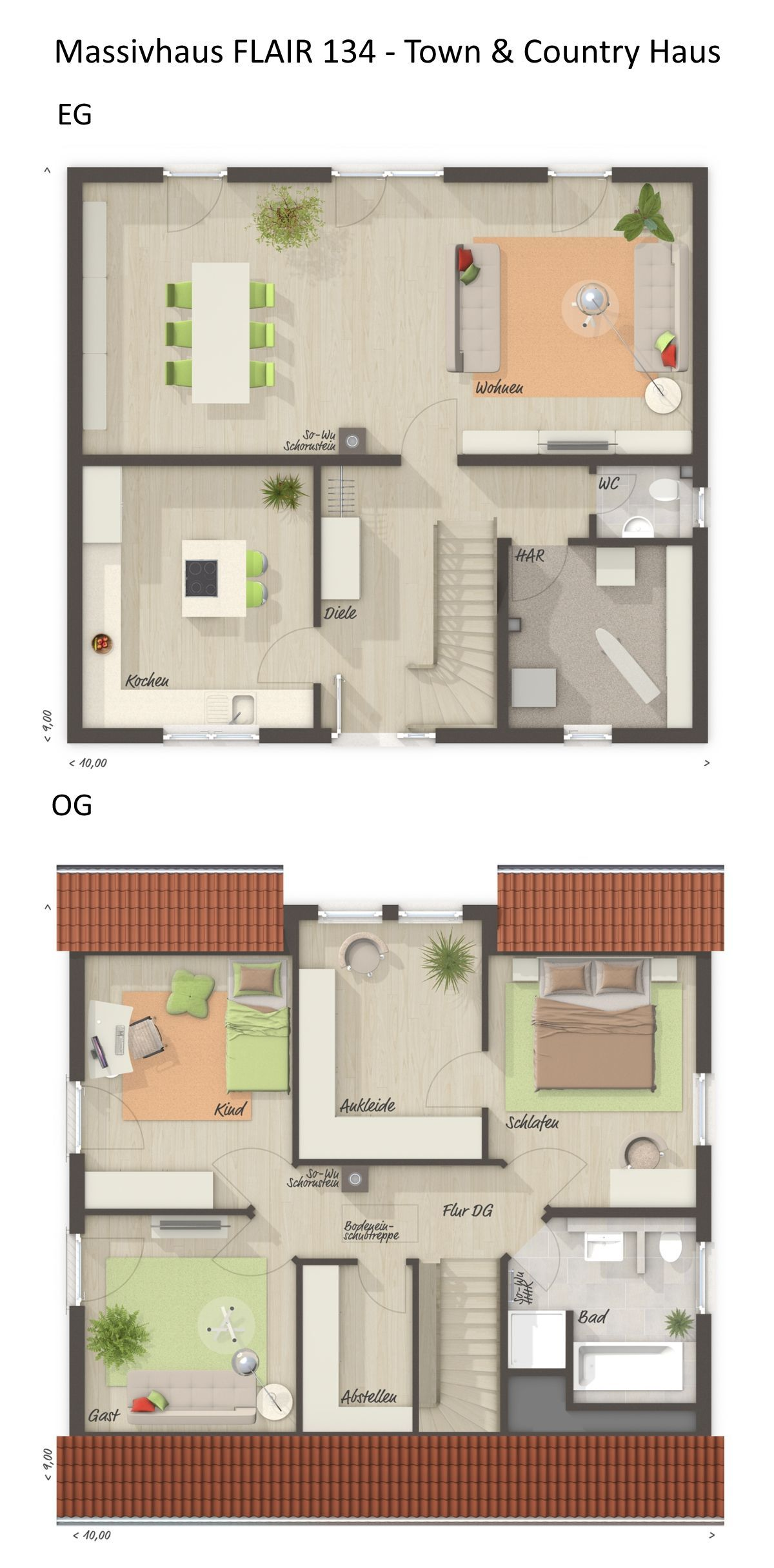 Einfamilienhaus FLAIR 134 klassisch mit Satteldach