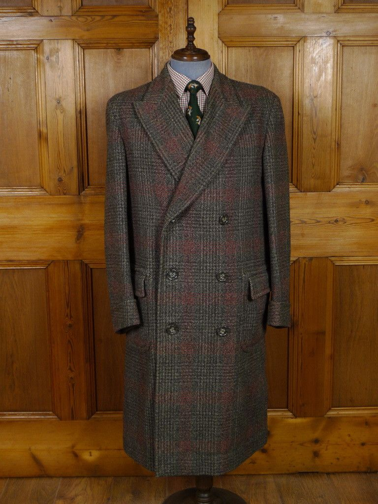 Dated November 1951 Austin Reed Of Regent Street Tweed Overcoat Ulster Coat Dapper Suits