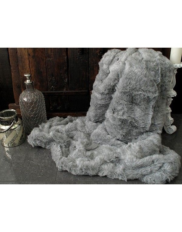 Mid Grey Ash Faux Fur Throws For Any Decor. Wide Range Of Sizes And Linings