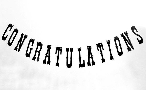 A reusable congratulations banner would be so cute at