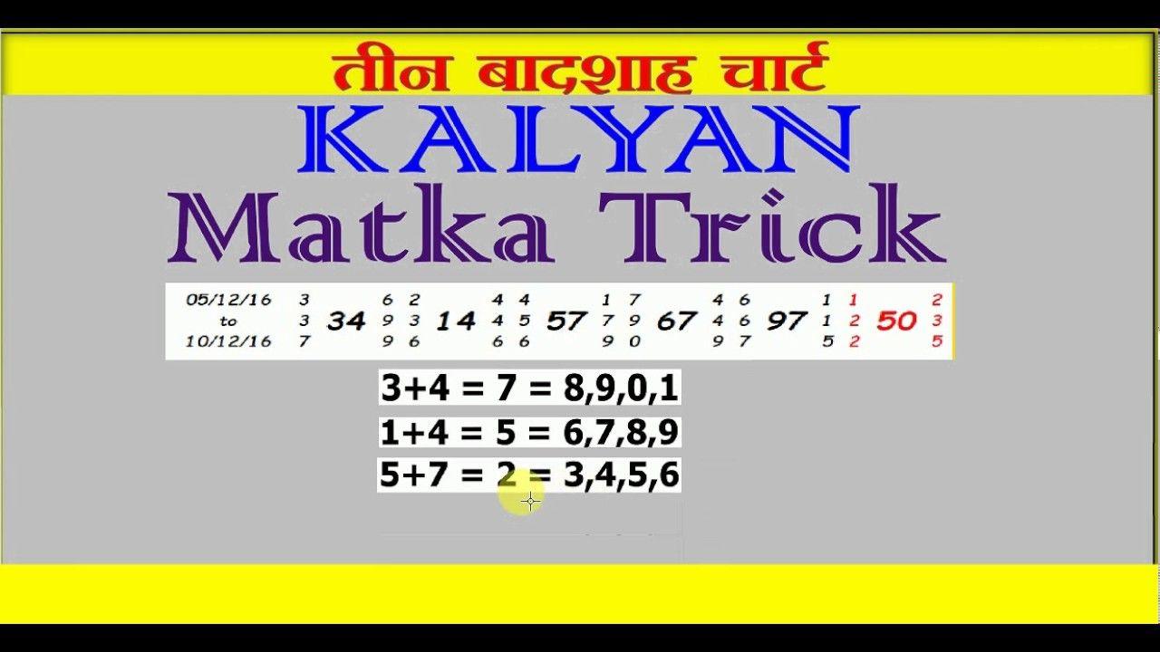 Kalyan Chart Kalyan Chart Satta Matka Kalyan Chart Satta ...