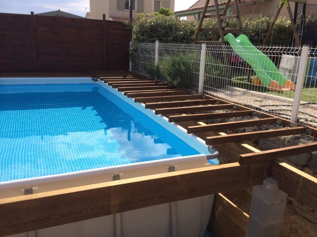 Habillage piscine tubulaire intex trendy pompe with habillage piscine tubulaire intex trendy - Habillage piscine hors sol tubulaire ...