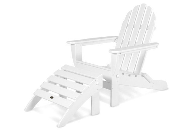 Sedie Adirondack ~ Don adirondack chair ottoman white classical classy outdoor
