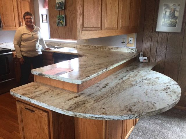 This Is A Beautiful Use Of Laminate This Is River Gold From Formica Kitchen Countertops Laminate Replacing Kitchen Countertops Kitchen Countertops