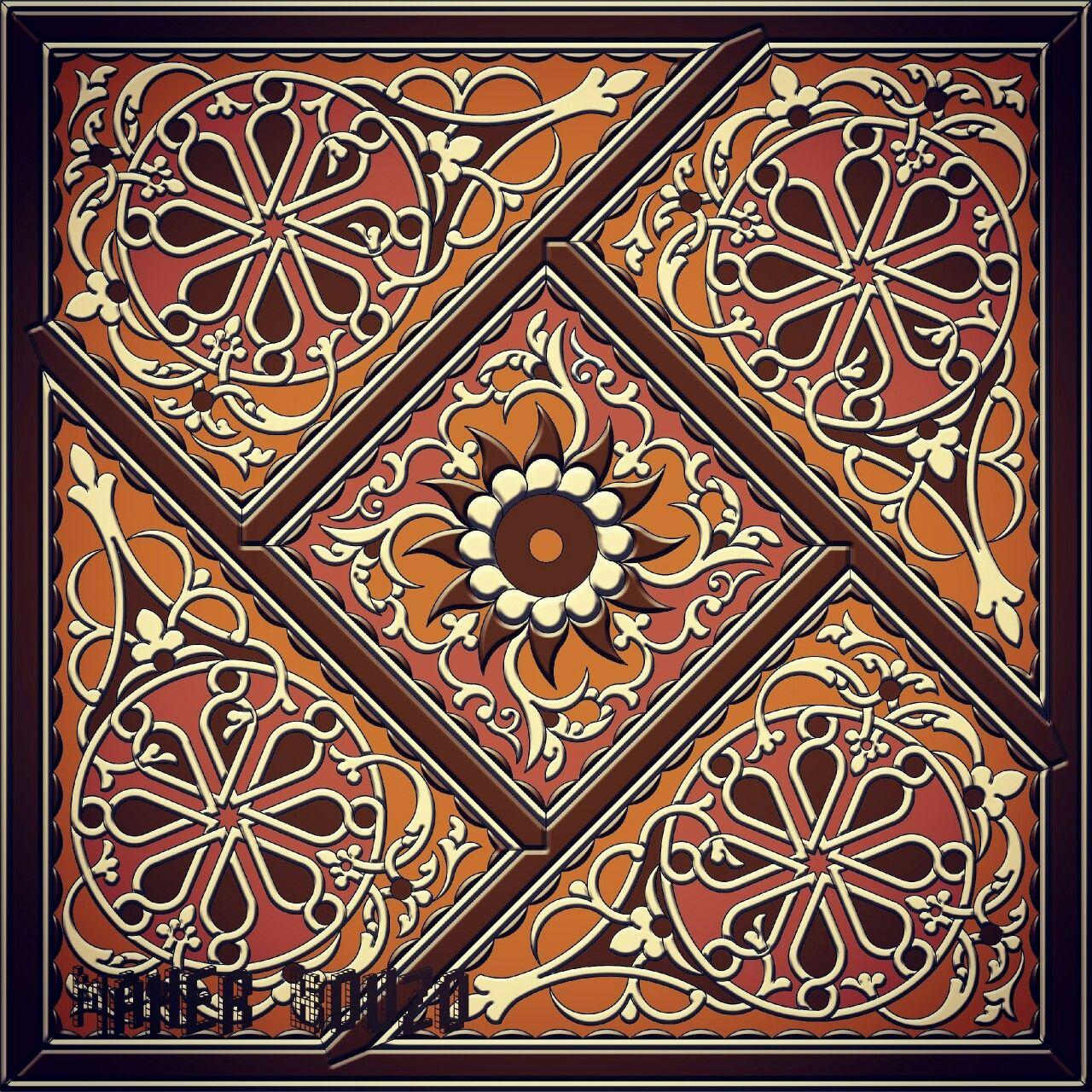 رسم هندسي اسمه المفروكة ورسم زخرفي شرقي Islamic Art Islamic Patterns Art