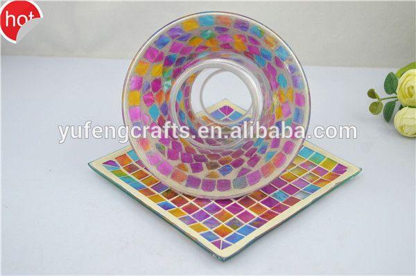 mosaico personalizado forma de flor pote jardim decoração suporte votiva titulares mosaico castiçal conjuntos