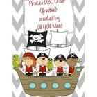 FREEBIE!!!  A pirate-themed ABC order activity.   Alphabetizing is to the first letter only.