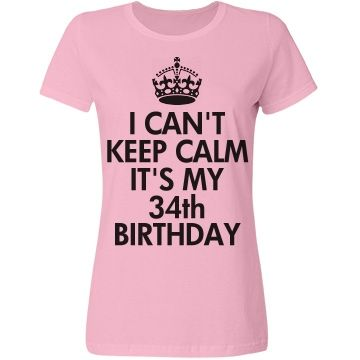 Its My 34th Birthday