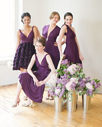 Aubergine Color Bridesmaid Dresses - Ocodea.com