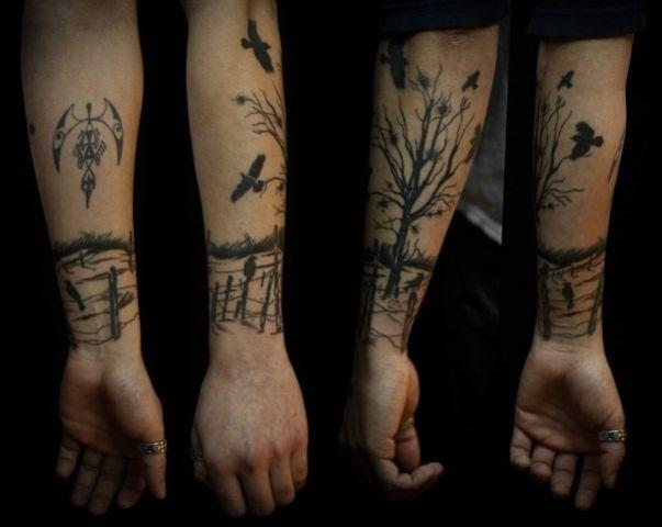 Tatouage Arbre Et Oiseaux Avant Bras Homme More Tattoos