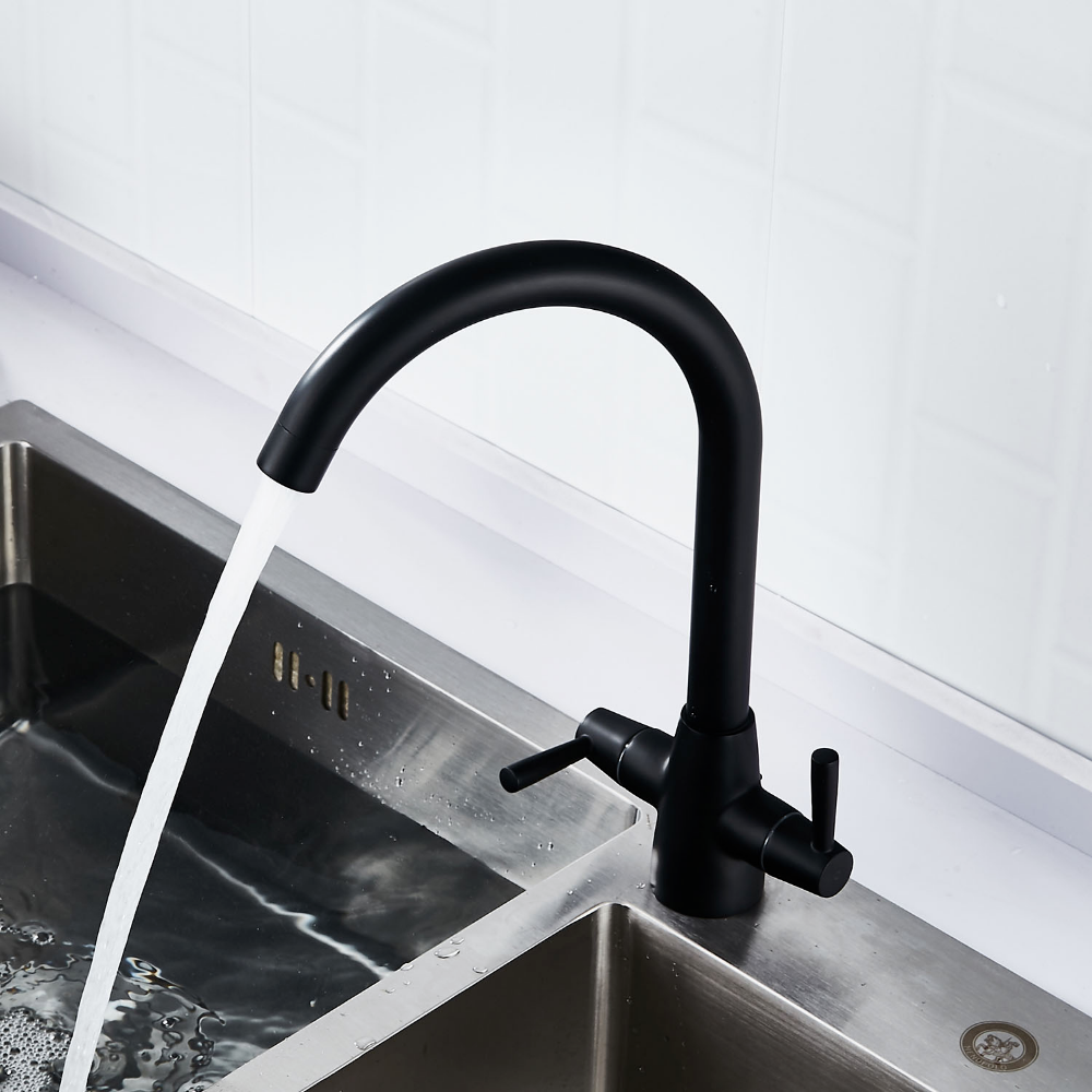 rotatable brass kitchen sink faucet