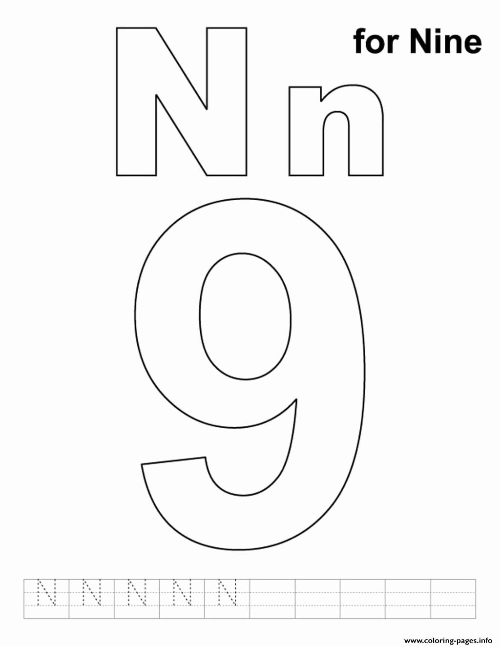 Alphabet Coloring Pages N In