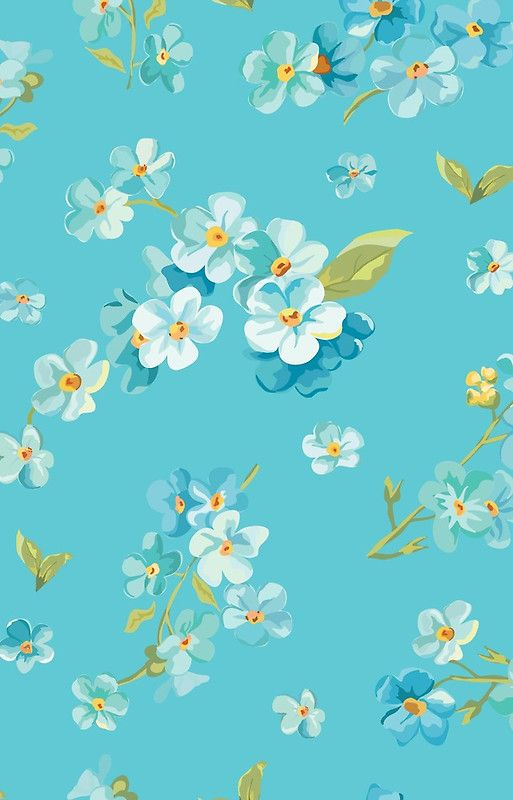 White Flowers On Turquoise Background Shabby Chic Country Chic Trendy Modern Beautiful Iphone Case Cover By Love999 Flower Background Wallpaper Art Wallpaper Wallpaper Iphone Cute Coolest flower turquoise wallpapers