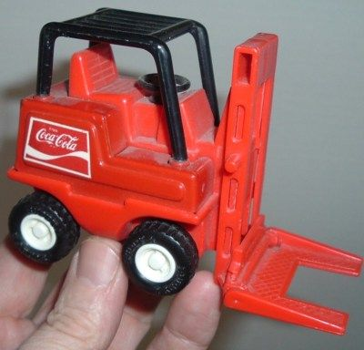Vintage Old Coca Cola Coke TOY BUDDY L FORKLIFT