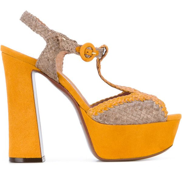 platform sandals - Yellow & Orange L'autre Chose Outlet Enjoy The Cheapest Clearance Cost eieZJVApF