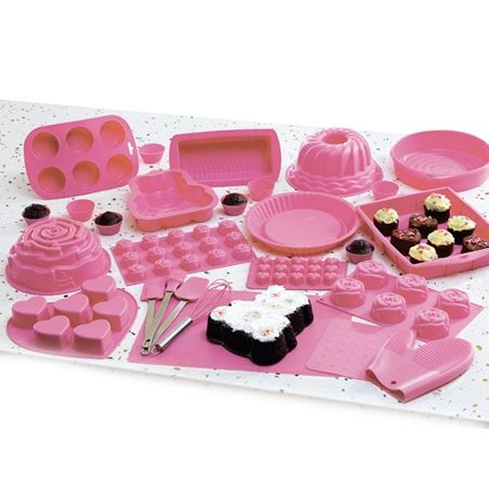 27pc Silicone Bakeware Set With Images Silicone Bakeware Set