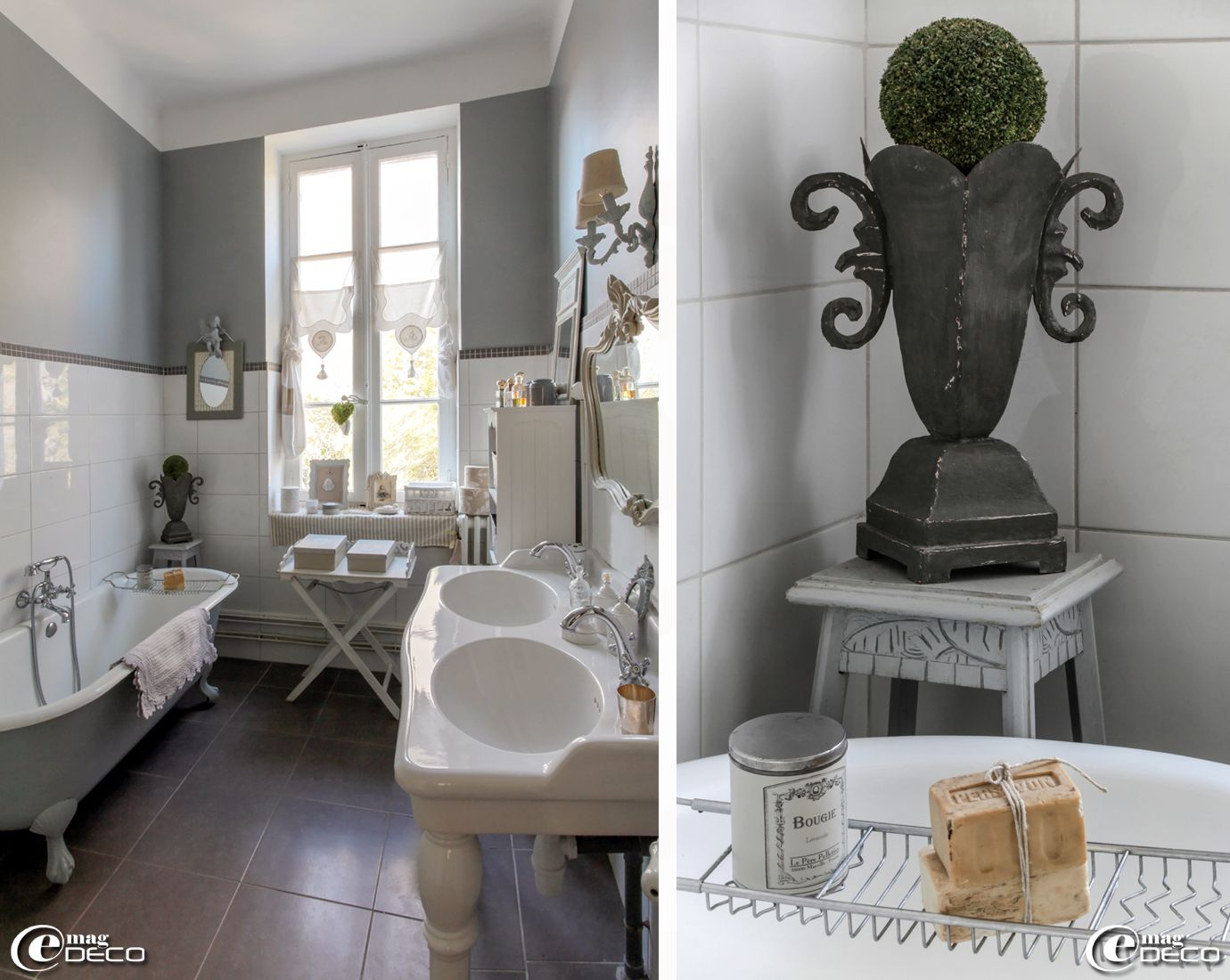 cast iron bathtub with legs painted gray mottled and double basin on column leroy merlin dream. Black Bedroom Furniture Sets. Home Design Ideas