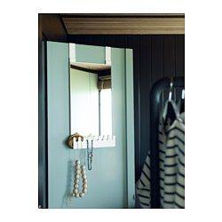 GARNES Over The Door Mirror/hooks U0026 Shelf, White Door Hanging