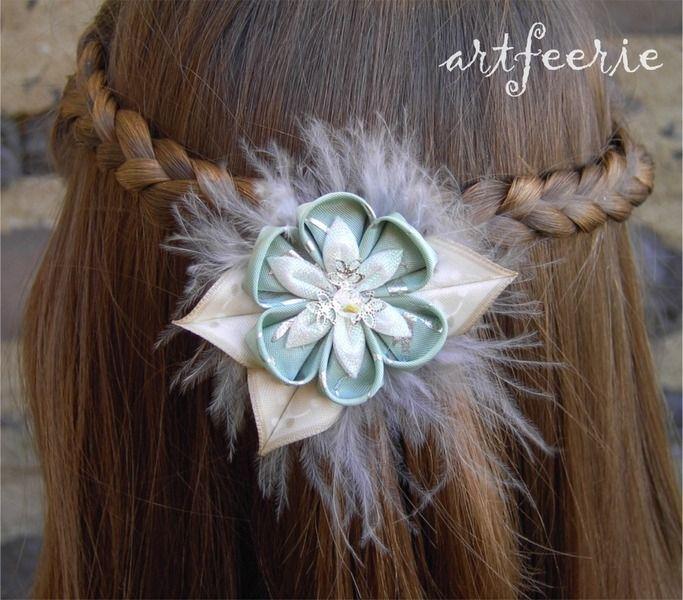 """Haarschmuck & Kopfputz - Haarspange """"Vintage-Traum"""" silber - ein Designerstück von artfeerie bei DaWanda"""