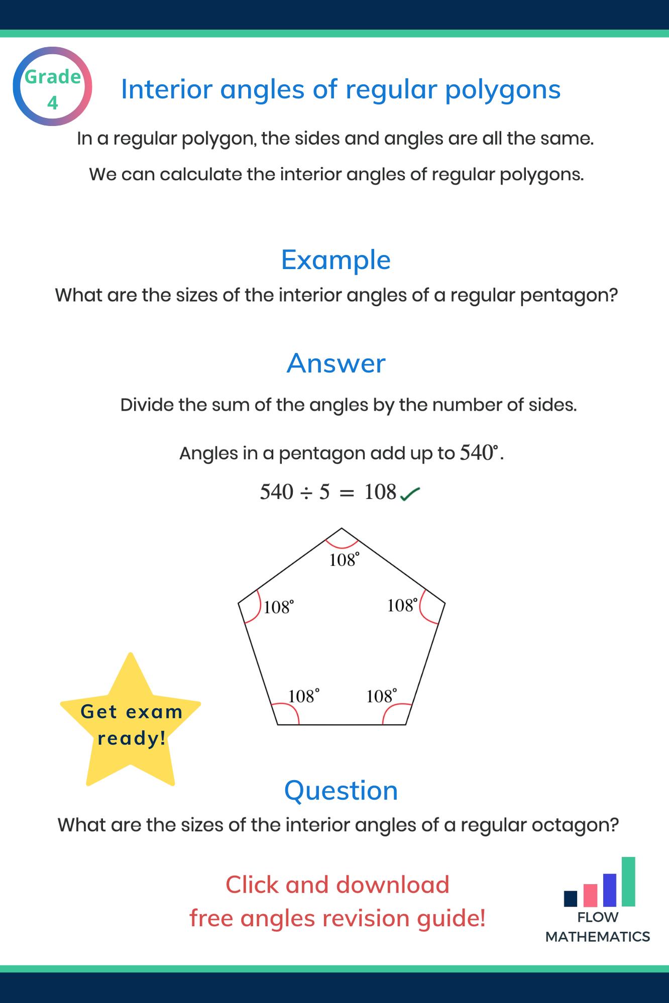 Interior angles of regular polygons in 2020 Studying math, Math methods, Math formulas