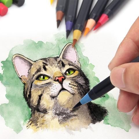Watercolor Soft Brush Pens 20 Piece Set In 2020 Watercolor Brush