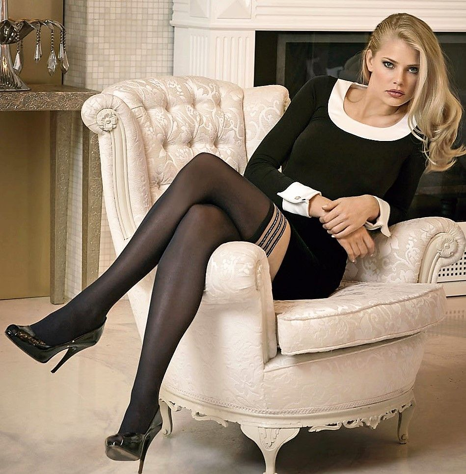 Have faced Tori black stockings