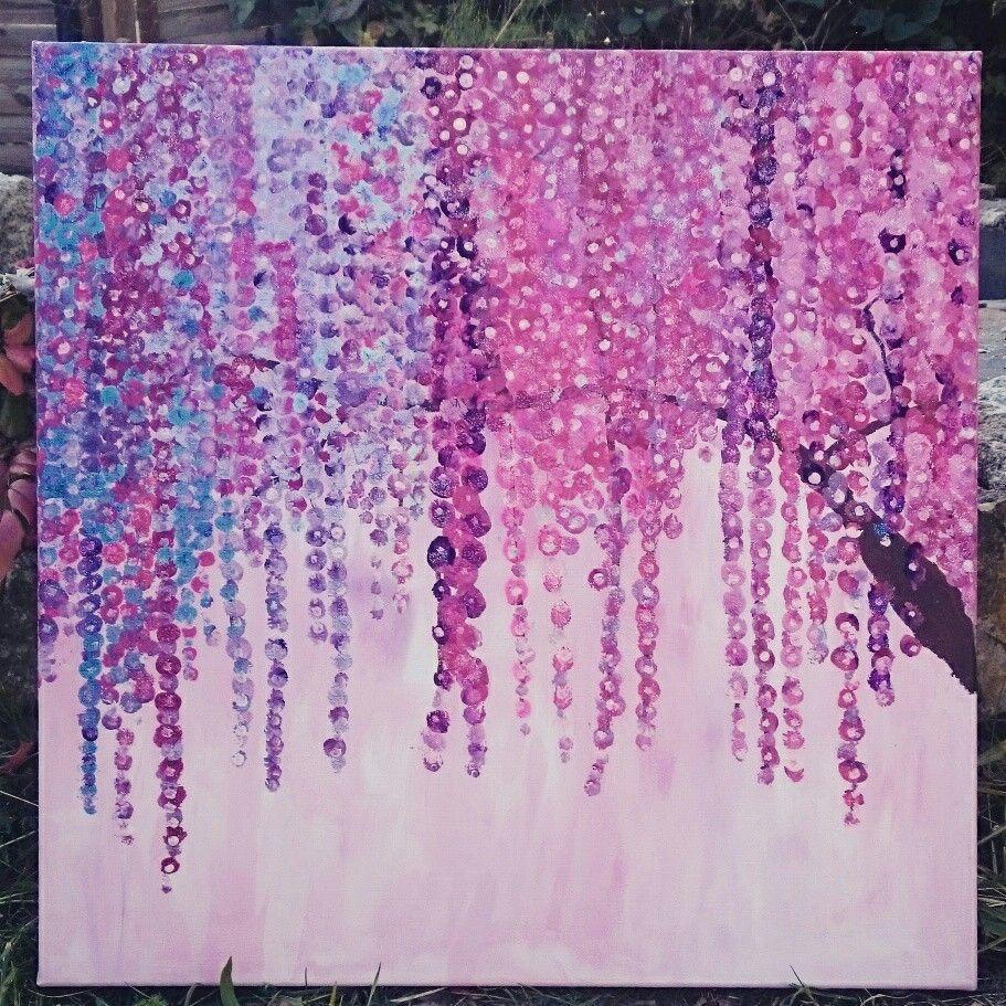 Bluten Blumen Blutenbaum Traum Traumbaum Acrylfarbe Acryl