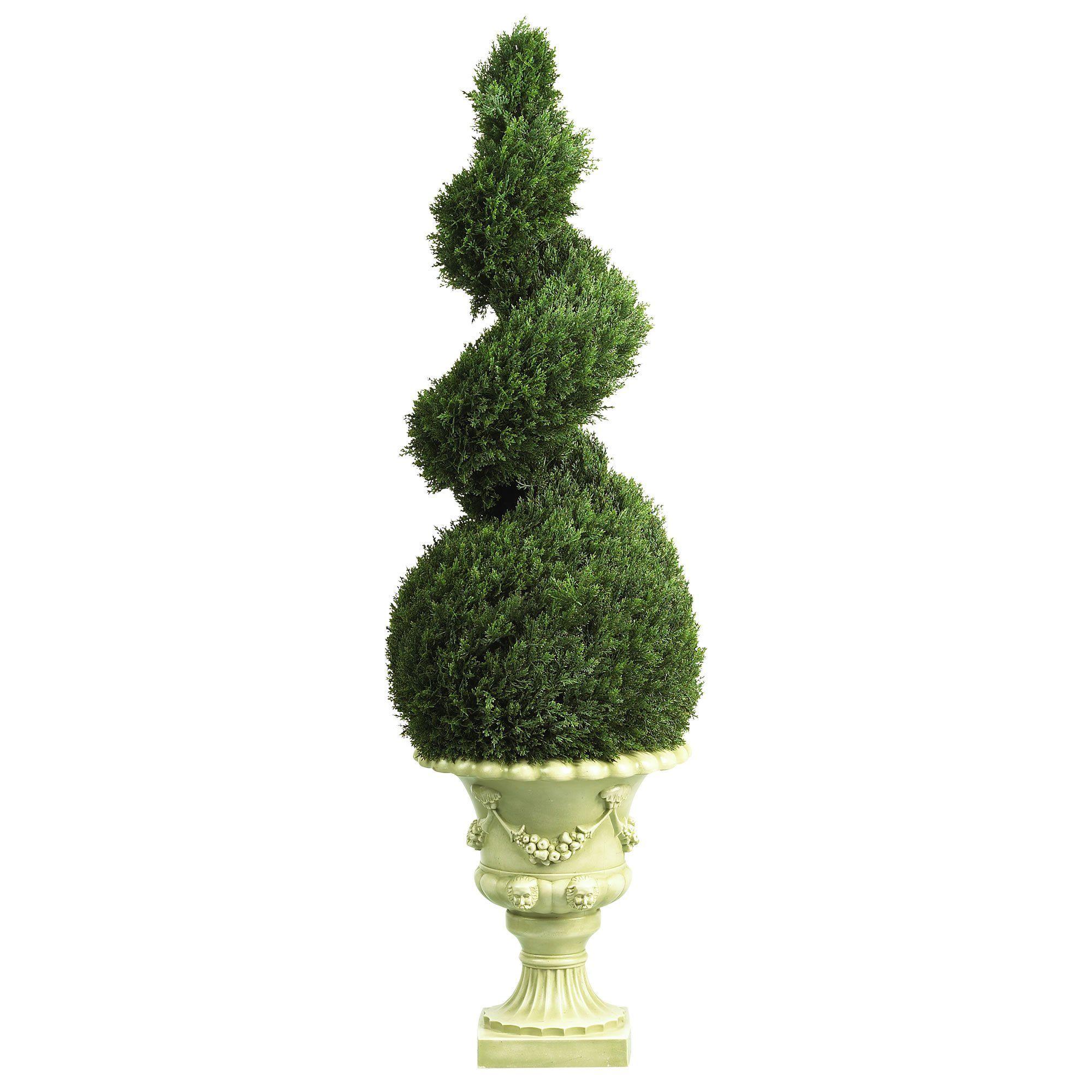 U cedar spiral wdecorative vase indooroutdoor decorative
