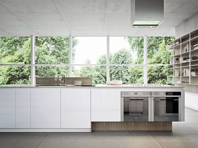 Moderne Küche Mit Weißen Grifflosen Fronten | Kitchen | Pinterest, Kuchen