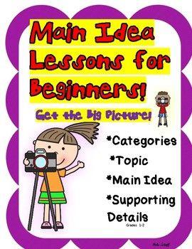 Main Idea Lessons For Beginners Main Idea Lessons Main Idea Lesson