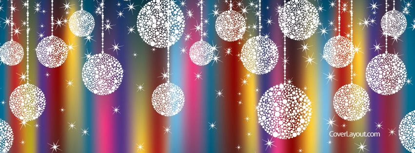 Hanging Christmas Ornaments Facebook Cover Coverlayout Com