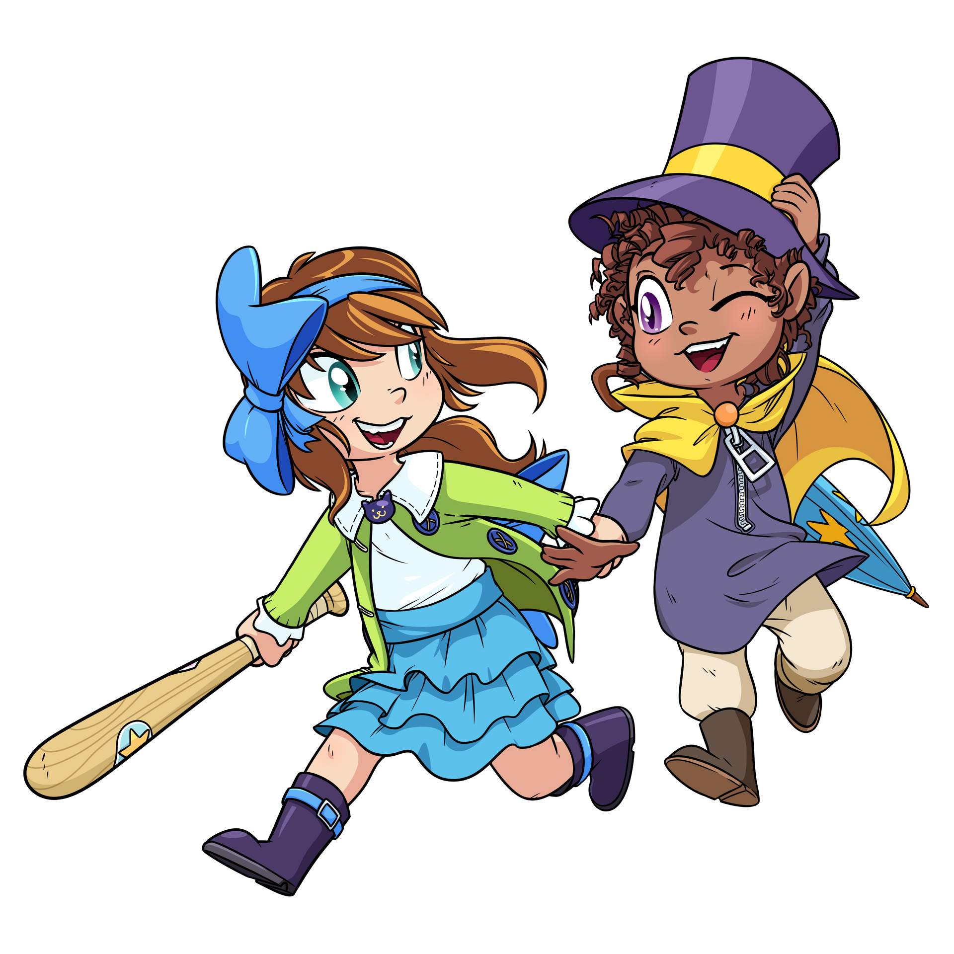Bow Kid And Hat Kid By Goatanimedatingsim On Deviantart A Hat In Time Rouge The Bat Hats