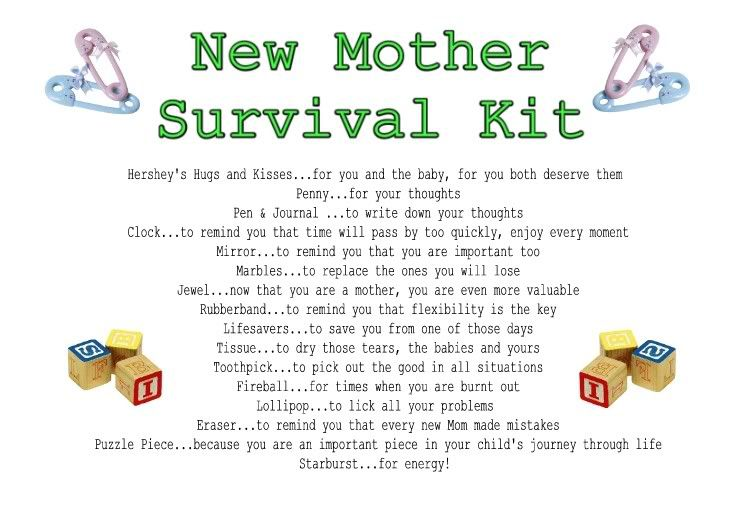 New Mothers Survival Kit Poem