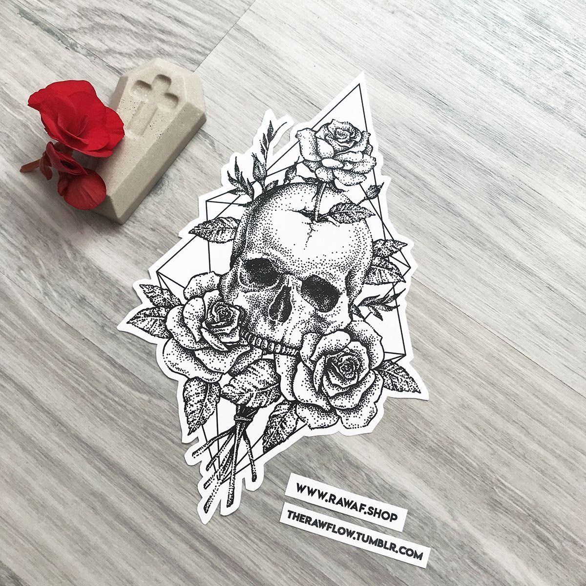 Dotwork Craneo Rosas Rose Diseno Del Tatuaje Descarga Ahora O Comision Mi Www Rawaf Shop Tattoo In 2020 Skull Rose Tattoos Skull Tattoo Design Rose Tattoos