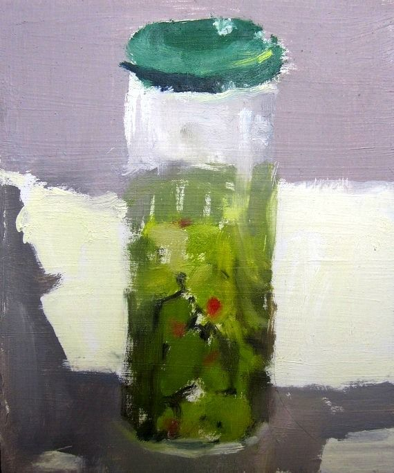 Aubrey Levinthal-Olives in a Jar   Натюрморт, Живопись