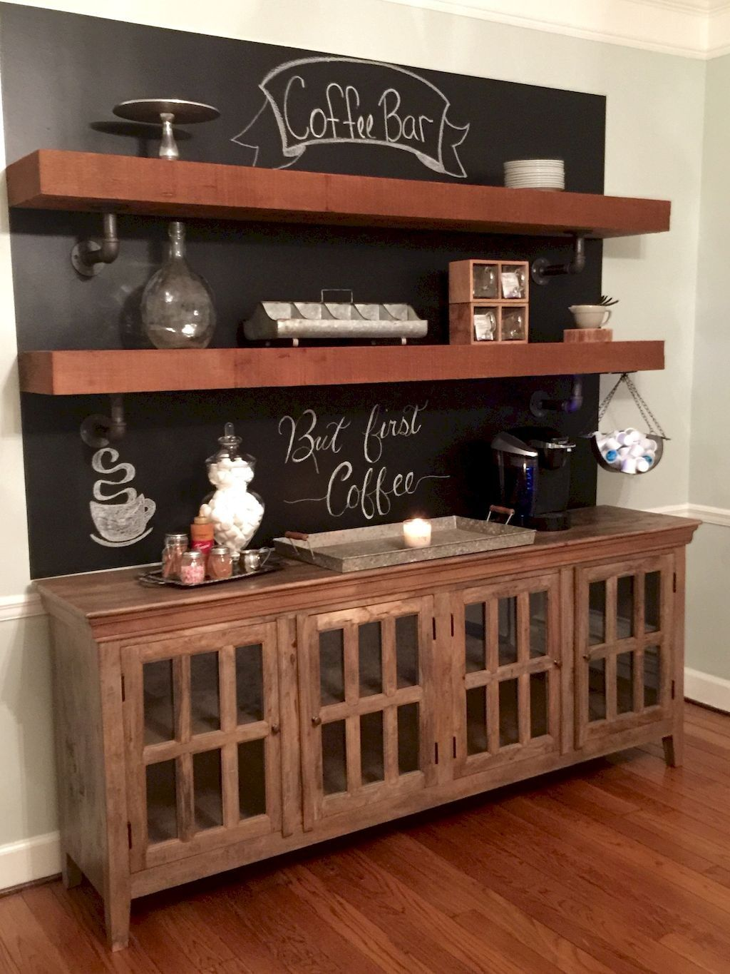 Top 29 Diy Ideas Adding Rustic Farmhouse Feels To Kitchen: 30+Cool Home Coffee Bar Ideas For Coffee Addict