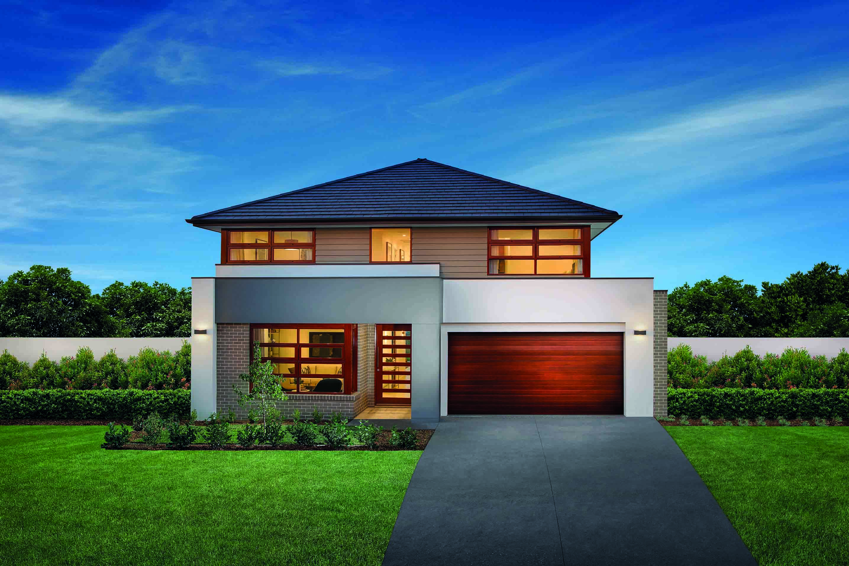 Madison 38 Double storey home design features five bedrooms
