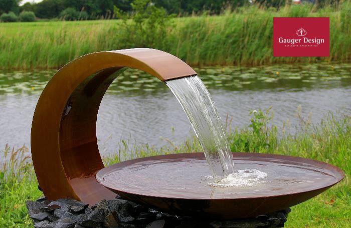 http://www.designer-brunnen.de/cortenstahl/gartenbrunnen, Gartenarbeit ideen
