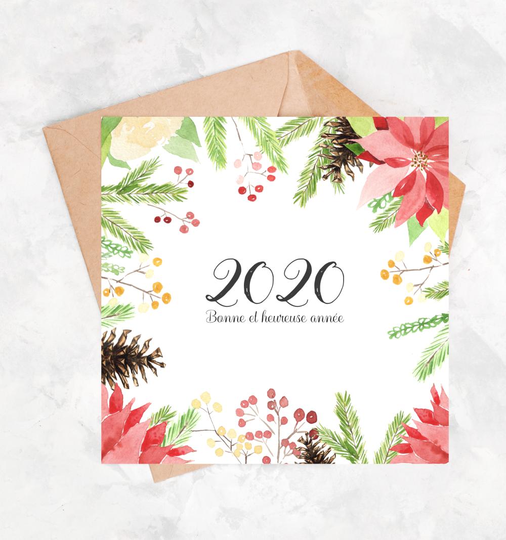 carte bonne annee 2020 Carte bonne année aquarelle (avec images) | Carte bonne année
