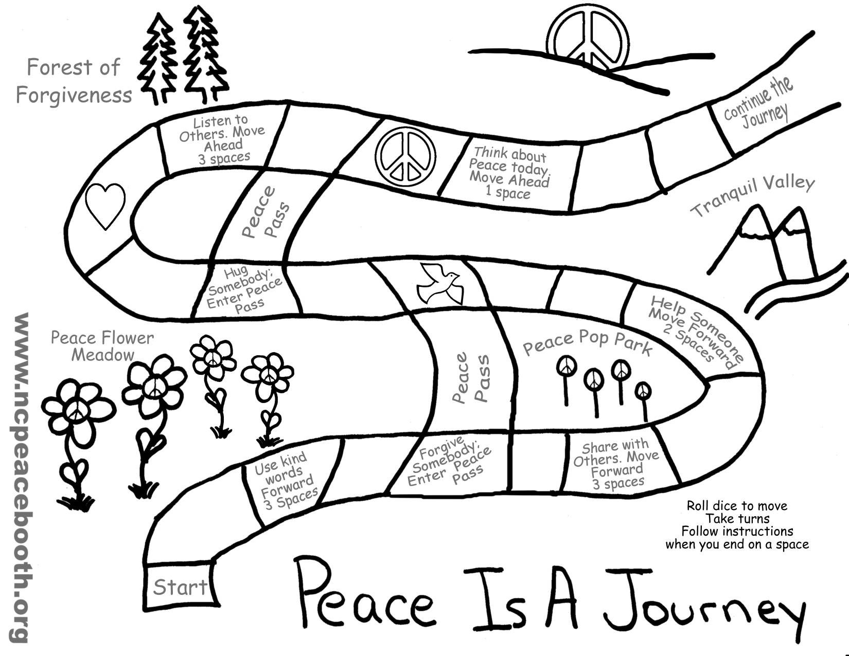 Download The Peace Is A Journey Coloring Sheet Game