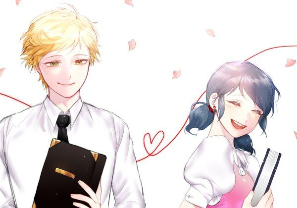 Looks like they're going to a prep school... (Miraculous Ladybug, Marinette, Adrien)