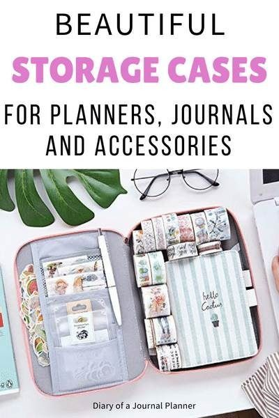 Planner Storage Cases (15 Bullet Journal Pouches You Need In 2020 )
